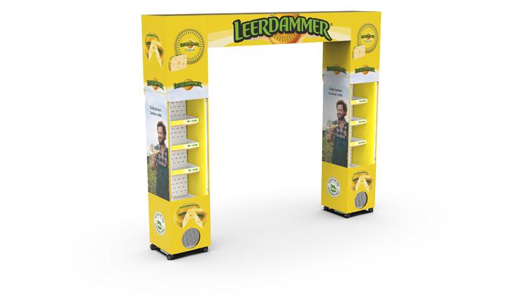 FLEXcooler_45_L_Open Front_Cardboard_Arcade_Leerdammer